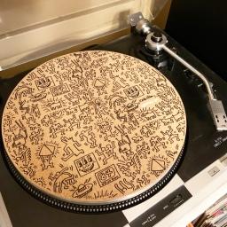 Keith Haring Record Mat
